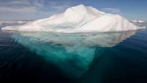 Arctic Iceberg with its underside exposed, by A. Weith